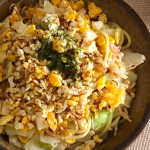 KALDI(カルディ)のピリ辛エビ塩で作った焼きそば麺【100円料理】#35How to make shrimp yakisoba noodles