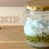 山椒の実の塩漬け-鮮やかな緑色を保存する方法【軸の取り方】Salted peppercorns#96